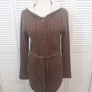 Carducci hoodie sweater shrug coat medium